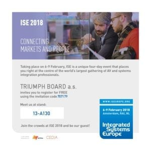 TRIUMPH BOARD ISE 2018 Invitation